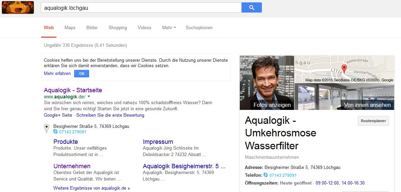 Aqualogik google eintrag