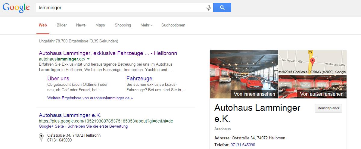autohaus lamminger google