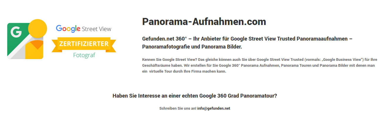 Google Business View Fotograf in Gaildorf