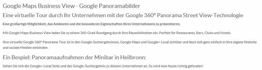 Zertifizierter Google Business View Fotograf in Metzingen